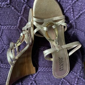 Franco Sarto rose gold wedges. New with Tags